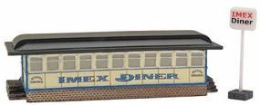 Imex Diner Assembled Perma-Scene N Scale Model Railroad Building #6304