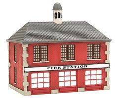 Imex Firehouse Assembled Perma-Scene N Scale Model Railroad Building #6305