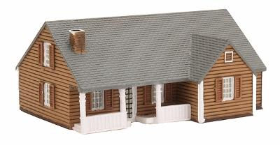 Imex Model Co New England Ranch House Assembled Perma-Scene -- N Scale Model Railroad Building -- #6308