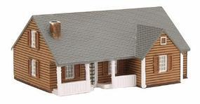 New England Ranch House Assembled Perma-Scene N Scale Model Railroad Building #6308