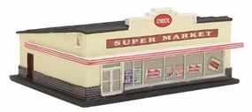 Imex Supermarket Assembled Perma-Scene N Scale Model Railroad Building #6310