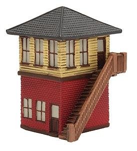 Imex Model Co Switch Tower Assembled Perma-Scene -- N Scale Model Railroad Building -- #6311