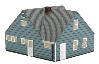 Imex Levittown Model A Assembled Perma-Scene N Scale Model Railroad Building #6312