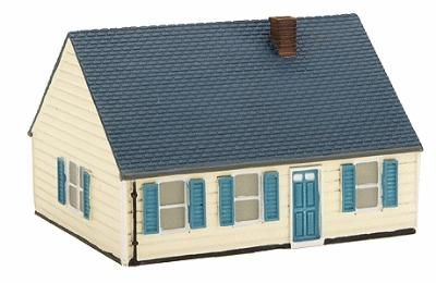 Imex Levittown Model B Assembled Perma-Scene N Scale Model Railroad Building #6313