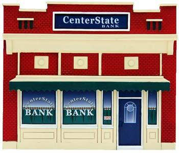 Imex Center State Bank Assembled Perma-Scene N Scale Model Railroad Building #6316