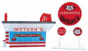 Imex Wetsons Hamburgers Assembled Perma-Scene N Scale Model Railroad Building #6321