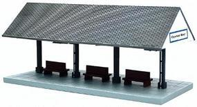 Oyster Bay Station Platform Assembled Perma-Scene N Scale Model Railroad Accessory #6329
