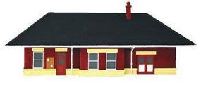 Imex Small Town Station Assembled Perma-Scene N Scale Model Railroad Building #6337