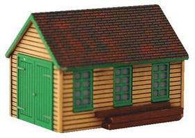Imex Maintenance Shed Assembled Perma-Scen N Scale Model Railroad Building #6341