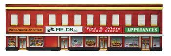 Imex Model Co Four-Store Building Assembled Perma-Scene -- N Scale Model Railroad Building -- #6343