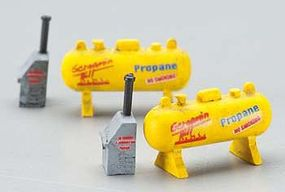 Imex Small Propane Tank Assembled Perma-Scene (2) N Scale Model Railroad Accessory #6355