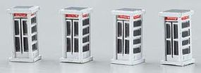 Imex Telephone Booth Assembled Perma-Scene (4) N Scale Model Railroad Accessory #6358