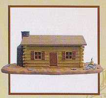 Imex Log Cabin B Plastic Model House 1/72 Scale #6505