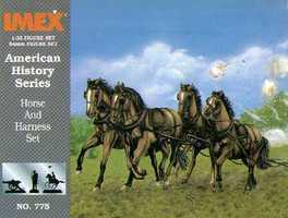 Imex Union Horses and Harness Civil War Set Plastic Model Military Figure 1/32 Scale #775