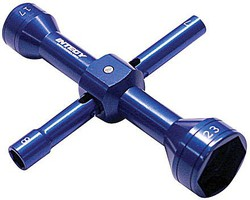 Integy Quad Hex Socket Wrench 7,8,17,23mm, Blue