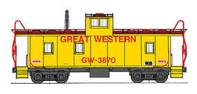 Intermountain CA-3/CA-4 Caboose Great Western HO Scale Model Train Freight Car #1075