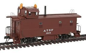 Intermountain ATSF Early Steel Caboose Atchison, Topeka & Santa Fe HO Scale Model Train Freight Car #1109