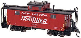 Intermountain Centralia Car Shops NE-5 Caboose - Ready to Run New Haven (red, Trailiner Logo)