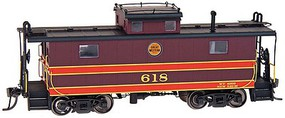 Intermountain Centralia Car Shops NE-5 Caboose Chicago Great Western (maroon 2-Stripe, 24 Herald)