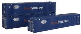 Intermountain 48 Jindo Corrugated Container 3-Pack - Pacer HO Scale Model Train Freight Car #30552