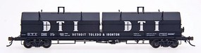 Intermountain Evans 100-Ton Coil Car with Angled Hoods - Ready to Run Detroit, Toledo & Ironton (black, Large DTI on Hoods)