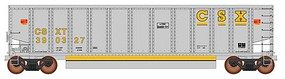 Intermountain 13-Panel Coalporter Coal Gondola 6-Pack Ready to Run Value Line CSX (gray, yellow)