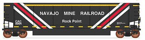 Intermountain AeroFlo Coal Gondola 6-Pack - Ready to Run - Value Line Najavo Mine Railroad (black, yellow, white, red)