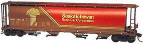 Intermountain 59 4-Bay Cylindrical Covered Hopper Saskatchewan HO Scale Model Train Freight Car #45121