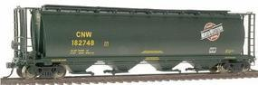 Intermountain 4-Bay Cylindrical Covered Hopper Chicago & NW HO Scale Model Train Freight Car #45124