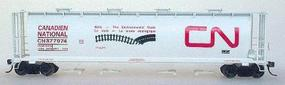 Intermountain 59 4-Bay Cylindrical Covered Hopper Canadian National HO Scale Model Train Freight Car #45202