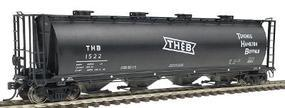 Intermountain 59 4-Bay Cylindrical Covered Hopper T,H,&B HO Scale Model Train Freight Car #45211