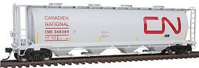 Intermountain 59 4-Bay Cylindrical Covered Hopper Canadian National HO Scale Model Train Freight Car #45233