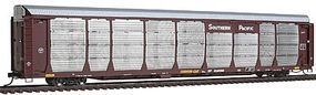 Intermountain Bi-Level Auto Rack on Flatcar Southern Pacific (Brown) HO Scale Model Train Freight Car #45257