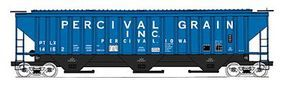 Intermountain 4750 Cubic Foot 3-Bay 18 Rib Covered Hopper Percival HO Scale Model Train Freight Car #45292