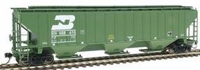 Intermountain PS2CD 3-Bay Covered Hopper Burlington Northern HO Scale Model Train Freight Car #45334