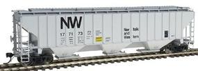 Intermountain PS2CD 4750 Cubic Foot 3-Bay Covered Hopper N&W HO Scale Model Train Freight Car #45358