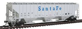 Intermountain PS2CD 4750 Cubic Foot 3-Bay Covered Hopper ATSF HO Scale Model Train Freight Car #45387