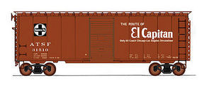 Intermountain 40 PS-1 Boxcar ATSF Bx57-EC HO Scale Model Train Freight Car #45431