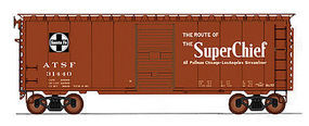 Intermountain 40' PS-1 Boxcar ATSF Bx57-SC HO Scale Model Train Freight Car #45432