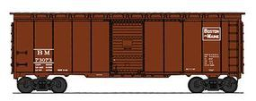 Intermountain 1937 AAR 40 Boxcar - Ready to Run - Boston & Maine HO Scale Model Train Freight Car #45769