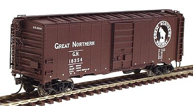 Intermountain Railway Company 40' 12-Panel Boxcar Great Northern (Mineral Red) -- HO Scale Model Train Freight Car -- #46001