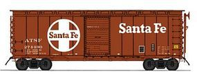 Intermountain 40 12-Panel Boxcar Santa Fe HO Scale Model Train Freight Car #46023