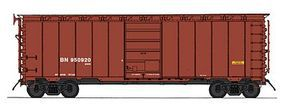 Intermountain 40' 12-Panel Boxcar Ready to Run Burlington Northern (MOW Scheme, Boxcar Red, Reporting Marks Only) HO-Scale