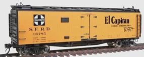 Intermountain Santa Fe Refrigerator Cars - Assembled (ATSF Yellow, black roof, ends) El Capitan - HO-Scale