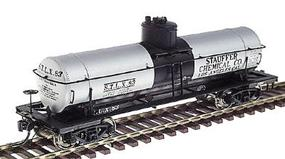 Intermountain ACF Type 27 Riveted 8,000 Gallon Tank Car - Assembled Stauffer Chemical Co. (silver w/black center band, black lettering) - HO-Scale