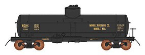 Intermountain ACF Type 27 Riveted 8000-Gallon Tank Car - Ready to Run Mobile Rosin Oil Co. (black, yellow)
