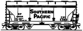 Intermountain ACF Center Flow 2-Bay Covered Hopper - Assembled Southern Pacific (gray, black lettering) - HO-Scale