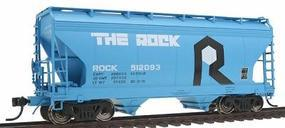 Intermountain ACF 2-Bay Center-Flow Covered Hopper Rock Island HO Scale Model Train Freight Car #46512
