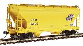 Intermountain 2-Bay Center-Flow Covered Hopper Chicago & NW HO Scale Model Train Freight Car #46522