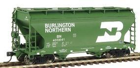 Intermountain 2-Bay Center-Flow Covered Hopper Burlington Northern HO Scale Model Train Freight Car #46526